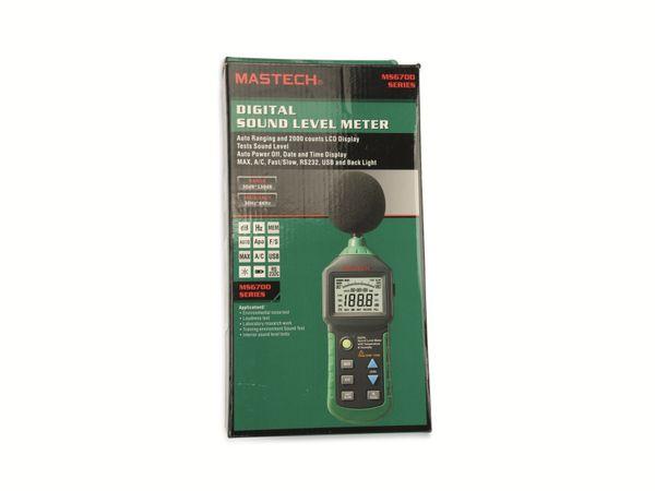 Schallpegelmessgerät MASTECH MS6701 RS232 - Produktbild 1