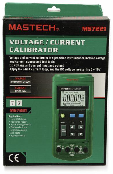 V/mA Kalibrator MASTECH MS7221 0...10V, 0...24mA - Produktbild 1