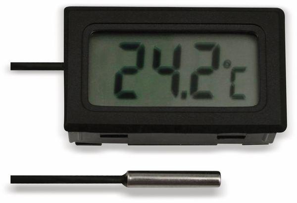 Einbau-Digitalthermometer mit 10 m Fühlerleitung, -50...+70 °C