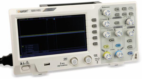 LCD Speicher-Oszilloskop OWON SDS1102, 2-Kanal, 100 MHz, USB - Produktbild 1
