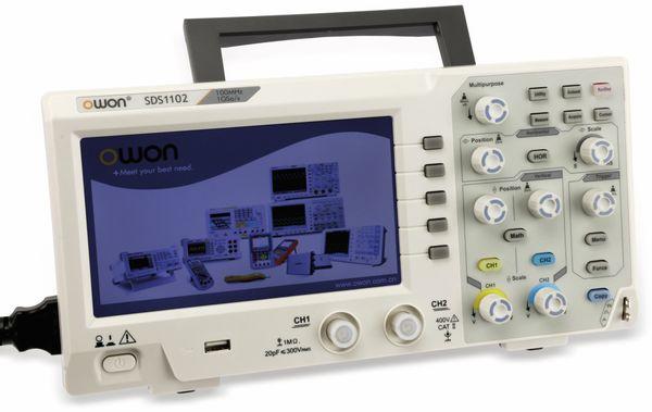 LCD Speicher-Oszilloskop OWON SDS1102, 2-Kanal, 100 MHz, USB - Produktbild 2
