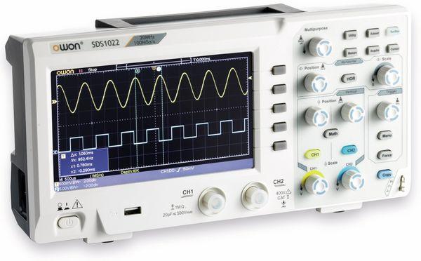 LCD Speicher-Oszilloskop OWON SDS1022, 2-Kanal, 20 MHz, USB - Produktbild 1