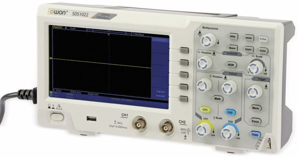 LCD Speicher-Oszilloskop OWON SDS1022, 2-Kanal, 20 MHz, USB - Produktbild 4