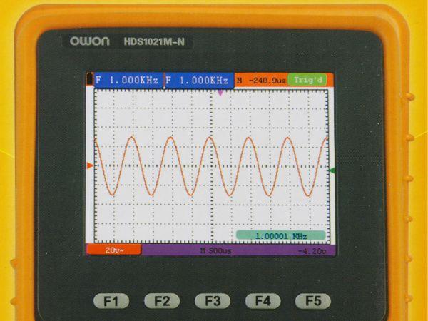 LCD-Oszilloskop mit Multimeter, OWON, HDS1021M-N, 1- Kanal, 20 Mhz - Produktbild 2