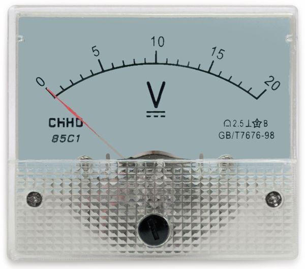 Einbau-Messinstrument, 0...20 V-