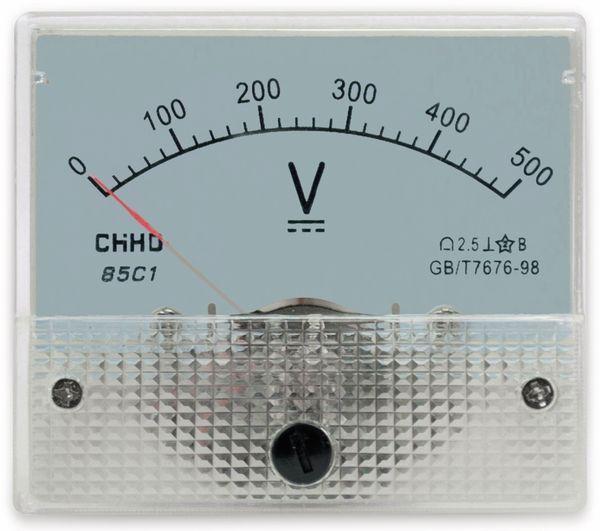 Einbau-Messinstrument, 0...500 V-