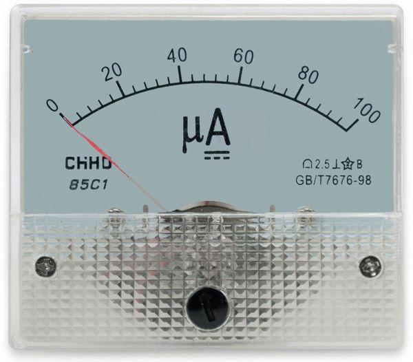 Einbau-Messinstrument, 0...100 µA-