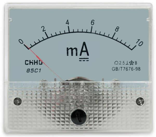 Einbau-Messinstrument, 0...10 mA-