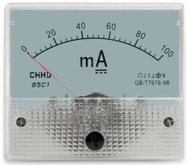 Einbau-Messinstrument, 0...100 mA-