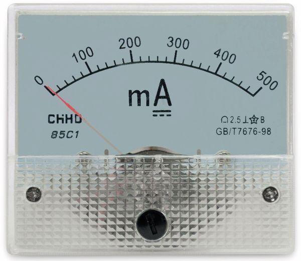 Einbau-Messinstrument, 0...500 mA-