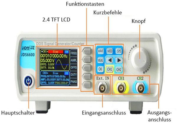 Signalgenerator und Frequenzzähler, JDS6600-LITE, JOY-IT - Produktbild 2