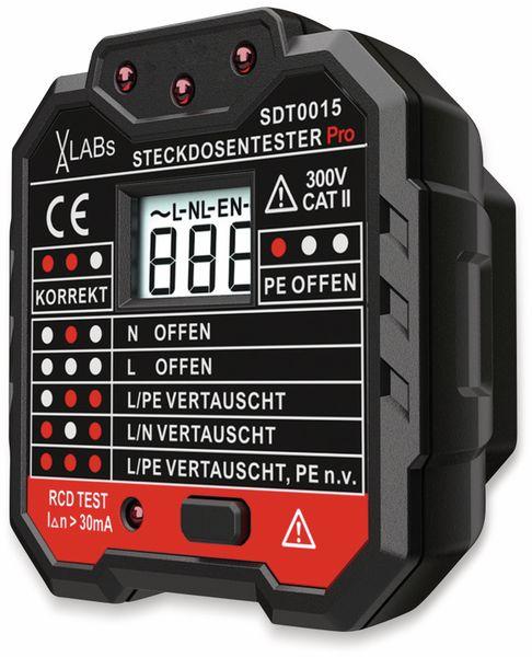 SDT0015: VA-LABs Steckdosentester mit RCD-Prüfung und LCD - Produktbild 2