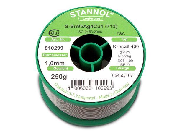 Lötzinn STANNOL Kristall 400 TSC, 1 mm, 250 g