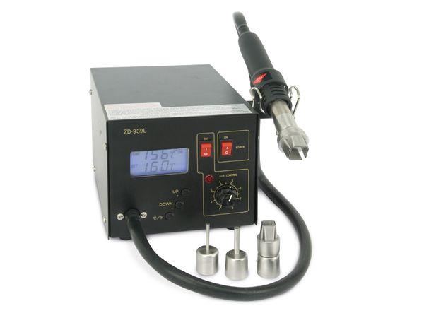 Heißluft-Lötstation mit LCD ZD-939L, 4 Wechseldüsen