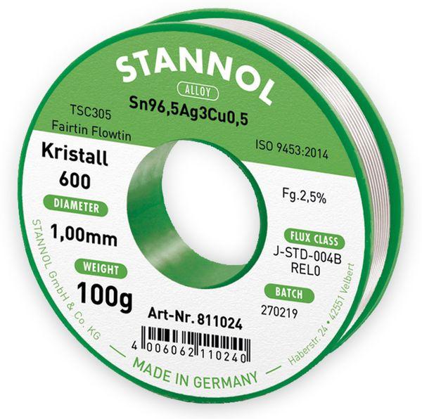 Lötzinn STANNOL Kristall 600 TSC305, 1 mm, 100 g