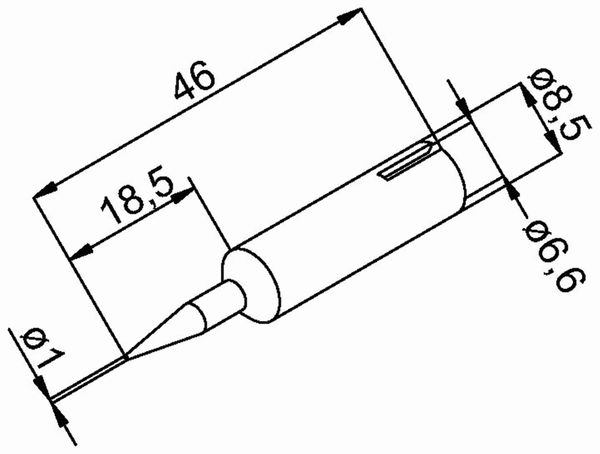 Lötspitze, ERSA, 0832BDLF/SB, bleistiftspitz, 1,0 mm