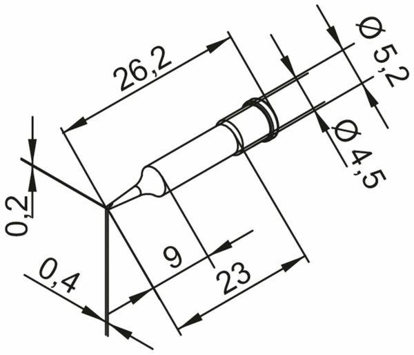 Lötspitze, ERSA, 0102CDLF04/SB, meißelförmig, 0,4 mm - Produktbild 2