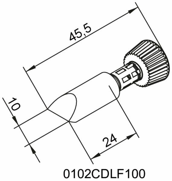 Lötspitze, ERSA, 0102CDLF100/SB, meißelförmig, 10,0 mm - Produktbild 2