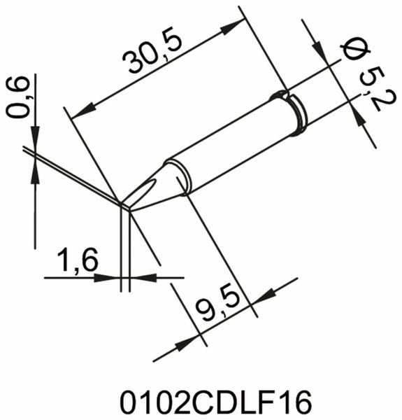 Lötspitze, ERSA, 0102CDLF16/SB, meißelförmig, 1,6 mm - Produktbild 2