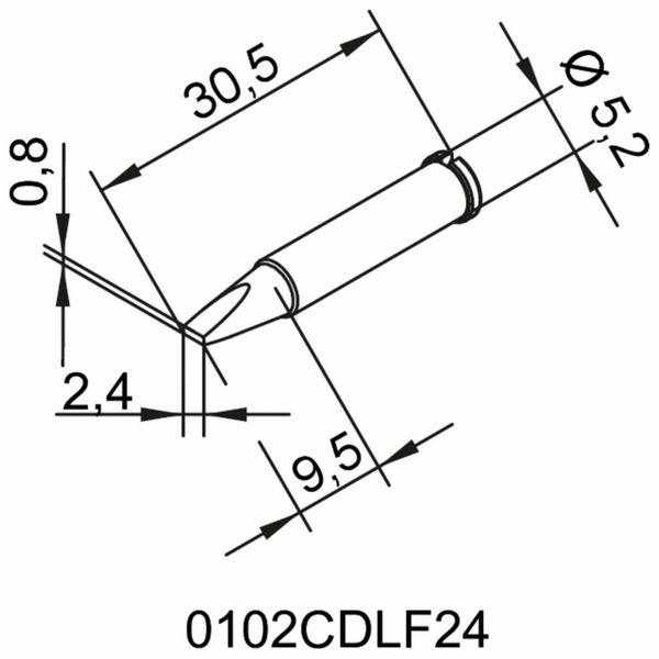 Lötspitze, ERSA, 0102CDLF24/SB, meißelförmig, 2,4 mm - Produktbild 2