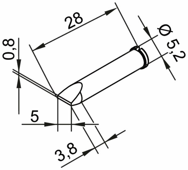 Lötspitze, ERSA, 0102CDLF50/SB, meißelförmig,5,0 mm - Produktbild 2