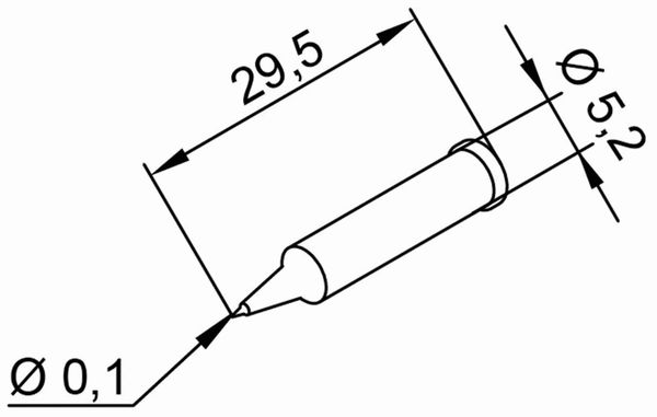 Lötspitze, ERSA, 0102PDLF01/SB, bleistiftspitz, 0,1 mm