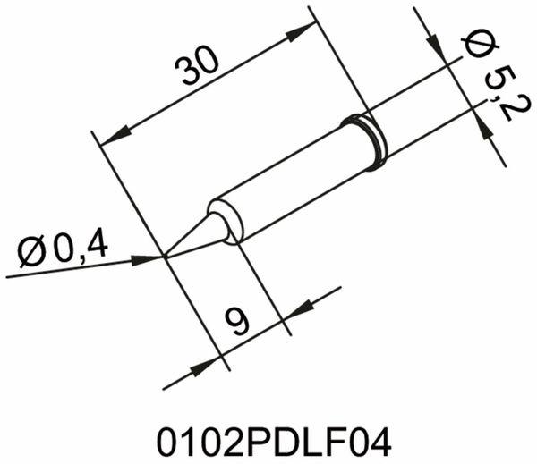 Lötspitze, ERSA, 0102PDLF04/SB, bleistiftspitz, 0,4 mm - Produktbild 2