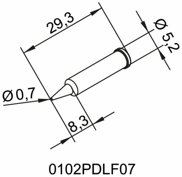 Lötspitze, ERSA, 0102PDLF07/SB, bleistiftspitz, 07 mm - Produktbild 2