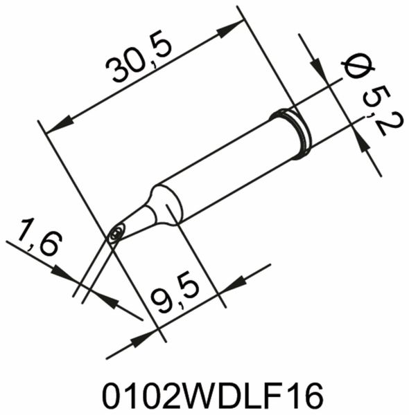 Lötspitze, ERSA, 0102WDLF16/SB,PowerWell mit Hohlkehle, 1,6 mm - Produktbild 2