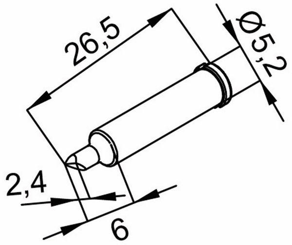 Lötspitze, ERSA, 0102CDLF24A/SB, meißelförmig, asymmetrisch, 2,4 mm - Produktbild 2