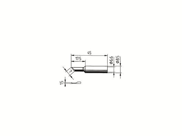 Lötspitze, ERSA, 0832AD/SB, sonstige, gerade, 1,50 mm - Produktbild 2