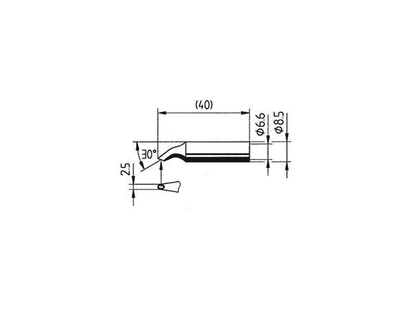 Lötspitze, ERSA, 0832HD/SB, sonstige, gebogen, 2,50 mm - Produktbild 2