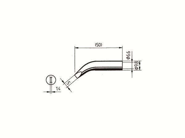 Lötspitze, ERSA, 0832RD/SB, meißelförmig, gebogen, 5,00 mm - Produktbild 2