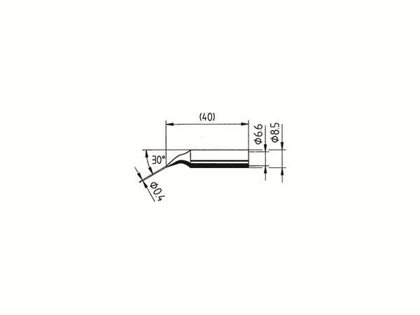 Lötspitze, ERSA, 0842ID/SB, bleistiftspitz, gebogen, 0,40 mm - Produktbild 2