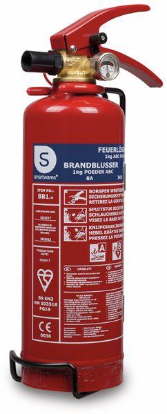 Feuerlöscher, Pulver, 1 kg, Brandklasse 8A, 34B,C - Produktbild 1
