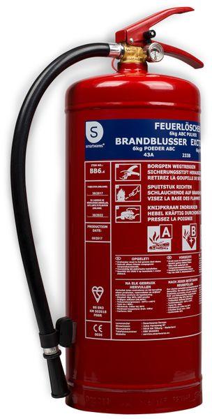 Feuerlöscher, Pulver, 6 Kg, Brandklasse 43A, 223B, C - Produktbild 1