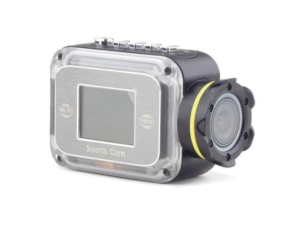 FullHD Action-Cam mit wasserfestem Gehäuse GEMBIRD ACAM-W-01, WLAN, LCD - Produktbild 1
