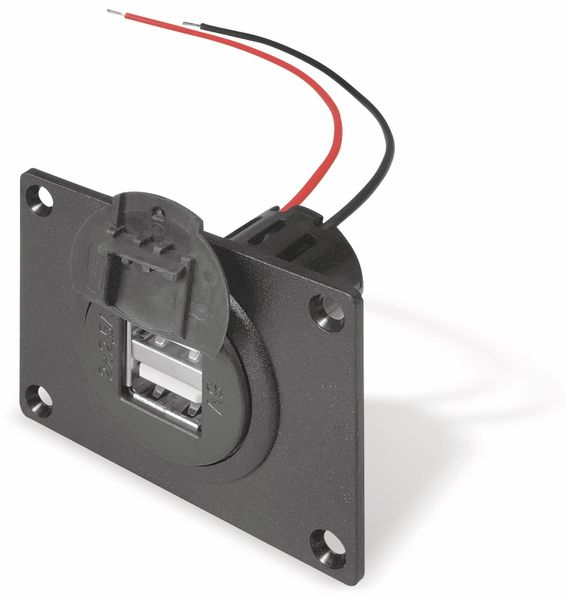 KFZ-Einbaubuchse USB PROCAR 67322600, 2-fach, max 5A (2x 2,5 A)