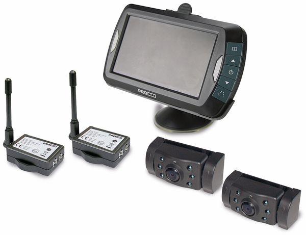 "Funk-Rückfahrkamera ProUser APR043x2 2 Kameras, 4,3"" Monitor - Produktbild 1"