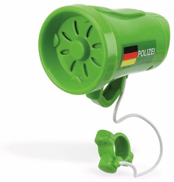 Fahrrad Sirene Polizei, 3 Sounds, grün - Produktbild 1