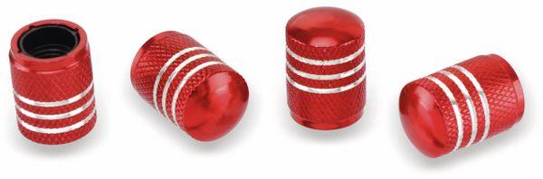 Ventilverschlüsse DUNLOP, 4 Stück, rund, rot