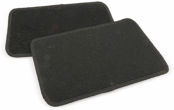 Universal Fußmatten Set 4-tlg. Velours, schwarz - Produktbild 1