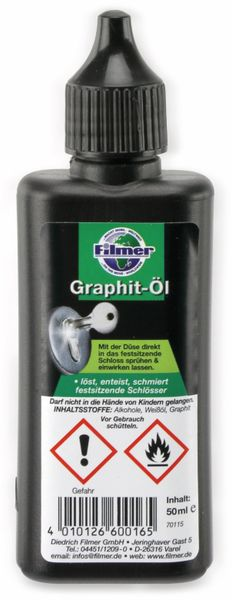 Graphit-Öl, FILMER 60016, 50 ml