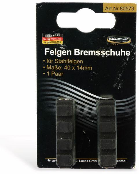 Fahrrad-Bremsschuhe MASTERPROOF, Stahl, 2 Stück - Produktbild 3