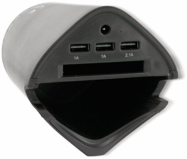 KFZ-Autobecherhalterung ALLRIDE, 3x USB, schwarz - Produktbild 3