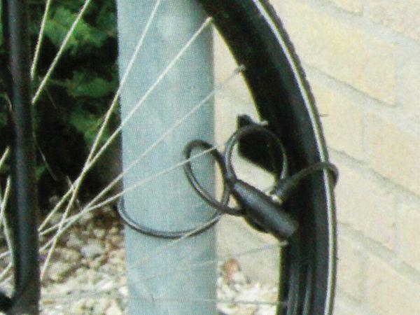 Fahrrad-Spiralkabelschloss, Dunlop,150cm - Produktbild 2