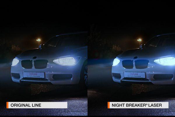 Halogen-Autolampe H1 OSRAM Night Breaker Laser (NG) 64150NL, 2 Stück - Produktbild 2