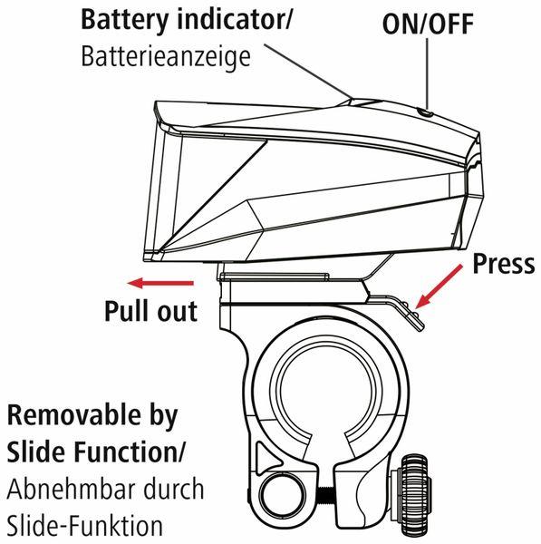 Fahrrad-Scheinwerfer-Set HAMA Profi L.E.D. - Produktbild 4