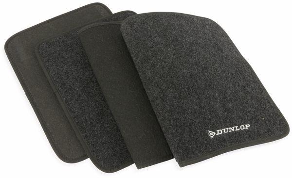 Universal Fußmatten DUNLOP, 4-teilig, schwarz