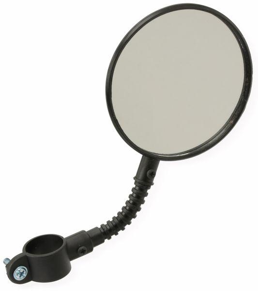 Fahrrad-Spiegel DUNLOP, schwarz, mit Reflektor